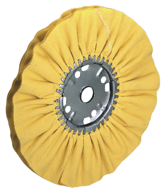 "ZIPPO™ SOFT YELLOW MILL TREATED BIAS-CUT CLOTH BUFFING WHEEL – TYPE ""ABYT"" - FormaxMfg.com"