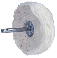 "SHANK MOUNTED COTTON BUFFS – TYPE ""SM-50"" – 50 PLY"